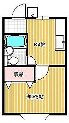 シティハイムあさひII[1階]の間取り