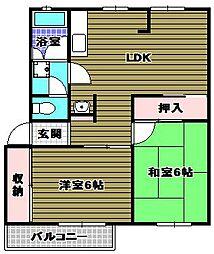 三原台団地[2階]の間取り