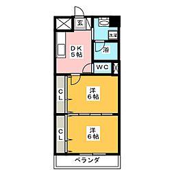 レジデンス27番館[8階]の間取り