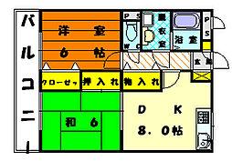 シャルマンイースト弐千[5階]の間取り