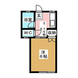 福寿荘八幡[1階]の間取り
