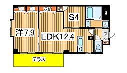INSURANCE BLDG6[106号室]の間取り