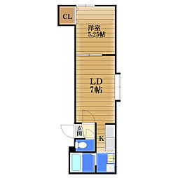 カーム厚別[3階]の間取り