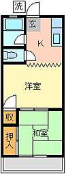 グリーンハイツミナミ[2F号室]の外観