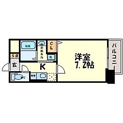 サムティ東難波ECLAT[10階]の間取り