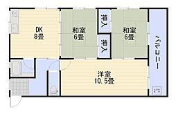 森川マンション[2階]の間取り