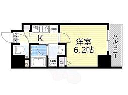 名古屋市営東山線 新栄町駅 徒歩9分の賃貸マンション 8階1Kの間取り