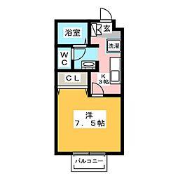福岡県福岡市博多区博多駅南5丁目の賃貸アパートの間取り