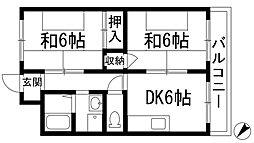 アパルトマン松栄[3階]の間取り