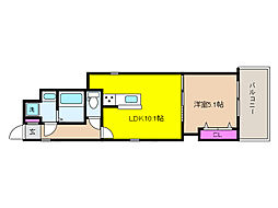 JR東海道・山陽本線 住吉駅 徒歩9分の賃貸アパート 1階1LDKの間取り