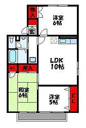 セジュールVAN[2階]の間取り