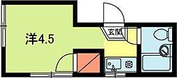 ダモンハウス堀ノ内[2階]の間取り