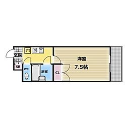 パレイースト小阪[3階]の間取り