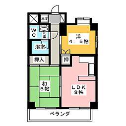 パリーマンションII[8階]の間取り