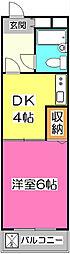シャトー有楽町[1階]の間取り
