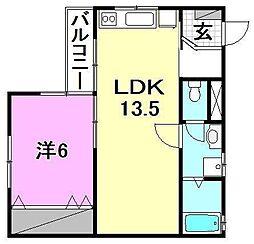第3北海マンション[202 号室号室]の間取り