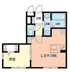 神奈川県横浜市緑区竹山1丁目の賃貸アパートの間取り