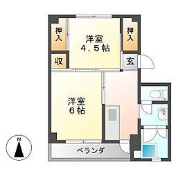 ビレッジハウス長島 1号棟[2階]の間取り