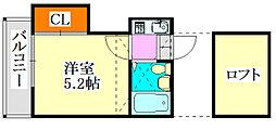 クレスト津田沼第02[202号室]の間取り