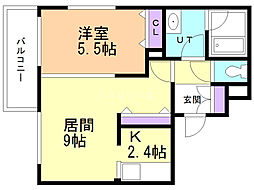 ARIETTA(アリエッタ) 4階1LDKの間取り