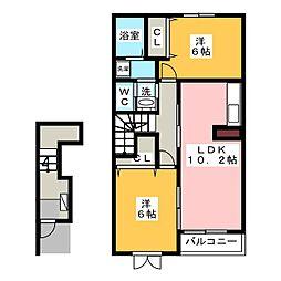 トキ リバーサイドスクエア C棟[2階]の間取り