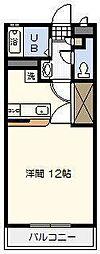 宮崎県宮崎市源藤町の賃貸アパートの間取り