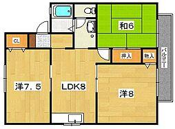 エトワールシャルムII[2階]の間取り