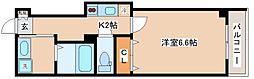 JR東海道・山陽本線 神戸駅 徒歩12分の賃貸マンション 2階1Kの間取り