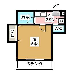 ハイツ秋田屋[3階]の間取り