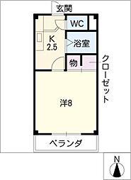 第5ハイツタマキ[4階]の間取り