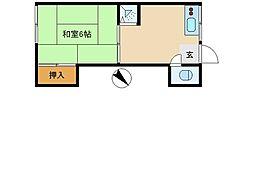 東京都板橋区志村1丁目の賃貸アパートの間取り