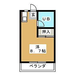 メゾンヤザコ.[3階]の間取り