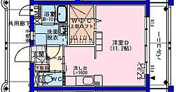 (仮称)瀬頭2丁目マンションII 5階ワンルームの間取り