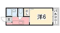 リヴェール田寺[107号室]の間取り