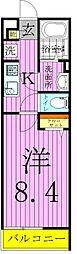 東京都足立区江北2丁目の賃貸アパートの間取り