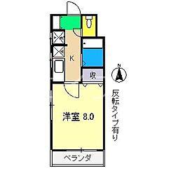 貳室邸マンション[2階]の間取り