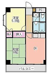 エステハイム大倉山[101号室]の間取り