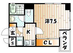 アドバンスM−1[4階]の間取り