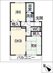 クレアールK[1階]の間取り