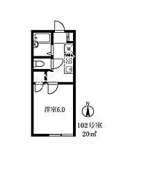 108303 PARANI東玉川[102号室]の間取り
