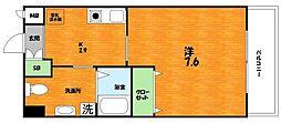 大阪府枚方市渚西1丁目の賃貸マンションの間取り