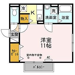 リビングタウン文京 D[2階]の間取り