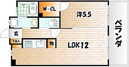 フェルト1113[4階]の間取り