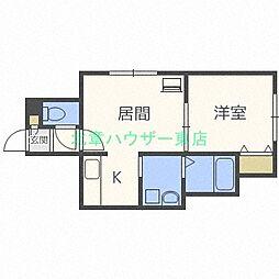 レユシール N12弐番館[2階]の間取り