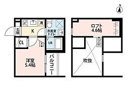 愛知県名古屋市守山区小幡南2丁目の賃貸アパートの間取り