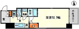 エスリード大阪心斎橋 9階1Kの間取り
