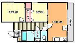 FUJIMOTO第1ビル[4階]の間取り