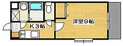 マンションアルティアⅡ[1階]の間取り