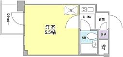 東京都品川区西大井6丁目の賃貸マンションの間取り