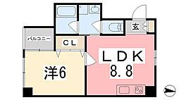 坂元町OMORIビル[304号室]の間取り